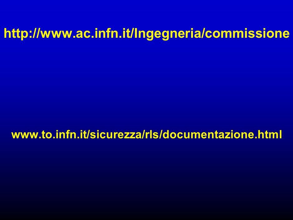 http://www.ac.infn.it/Ingegneria/commissione www.to.infn.it/sicurezza/rls/documentazione.html