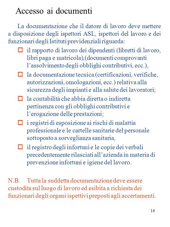 15 Assunzione di informazioni Tale attività consiste nellacquisizione di notizie dei fatti o delle circostanze oggetto dellaccertamento (datori di lav