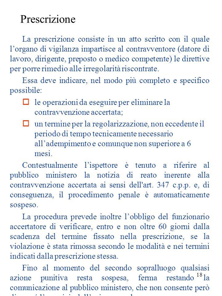 17 Disposizione La disposizione è il provvedimento amministrativo con il quale lorgano di vigilanza impone, nei casi espressamente previsti dalla legg