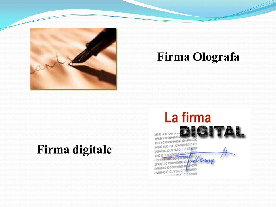 Firma Olografa Firma digitale