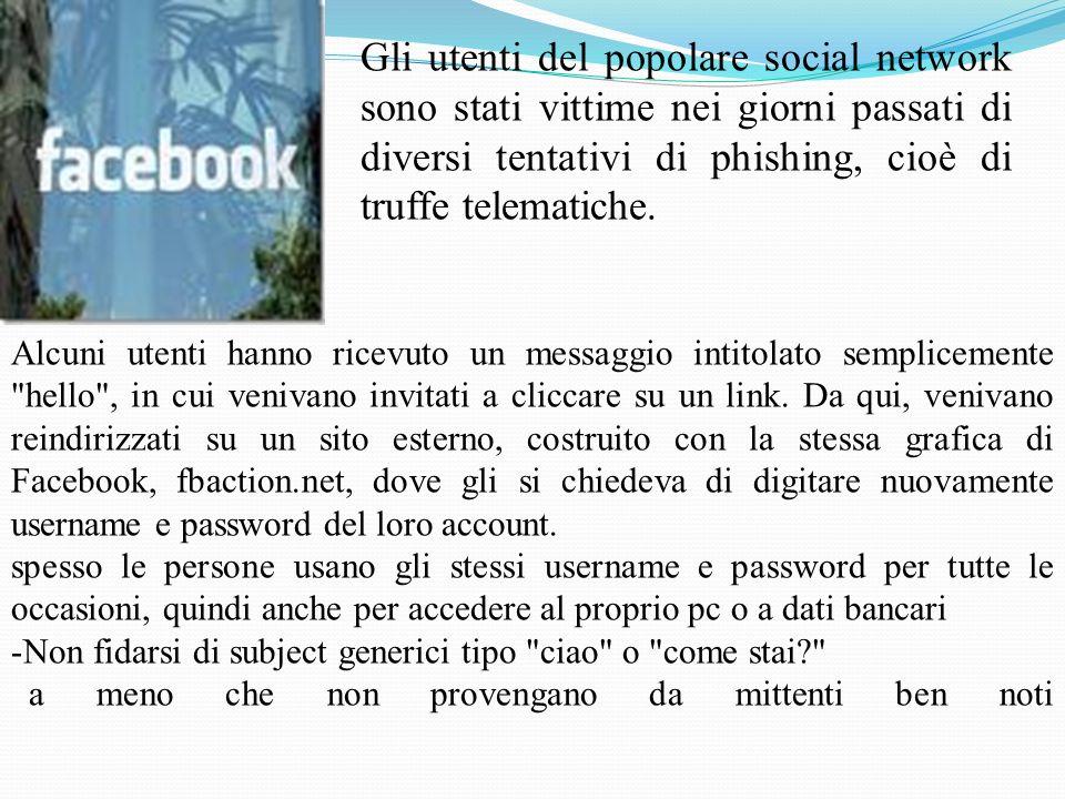 Gli utenti del popolare social network sono stati vittime nei giorni passati di diversi tentativi di phishing, cioè di truffe telematiche. Alcuni uten