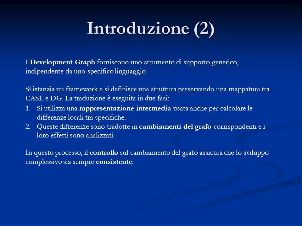 Introduzione (2) I Development Graph forniscono uno strumento di supporto generico, indipendente da uno specifico linguaggio.