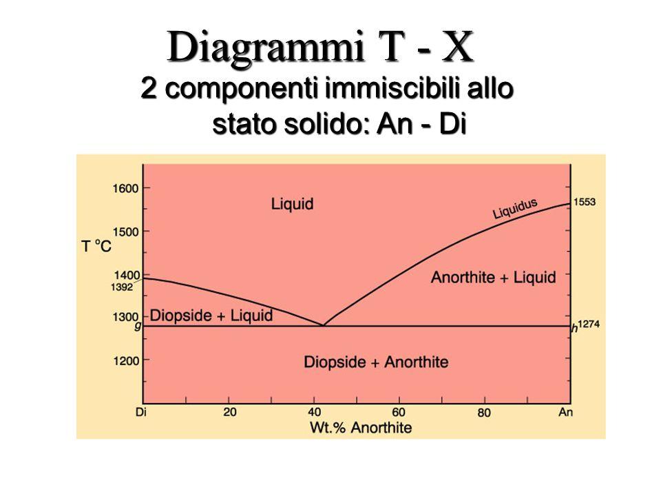 Diagrammi T - X 2 componenti immiscibili allo stato solido: An - Di