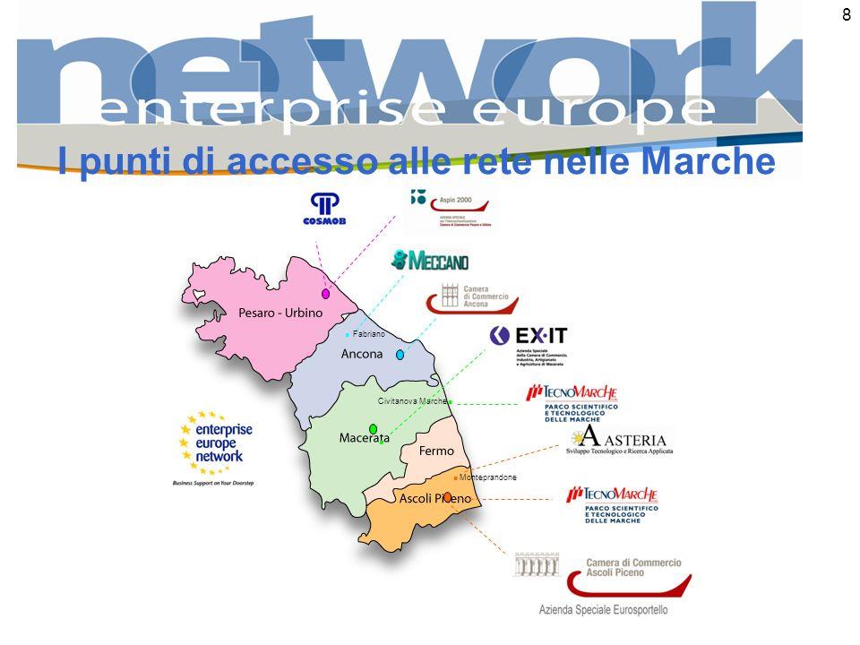 8. Monteprandone Civitanova Marche... Fabriano I punti di accesso alle rete nelle Marche