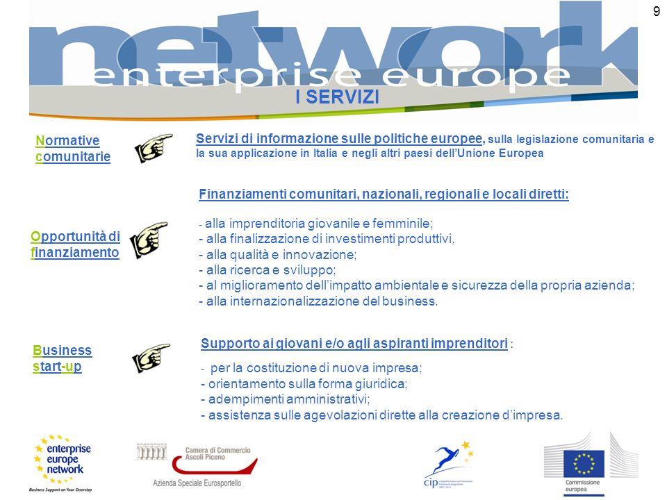 9 I SERVIZI Business start-up Supporto ai giovani e/o agli aspiranti imprenditori : - per la costituzione di nuova impresa; - orientamento sulla forma giuridica; - adempimenti amministrativi; - assistenza sulle agevolazioni dirette alla creazione dimpresa.