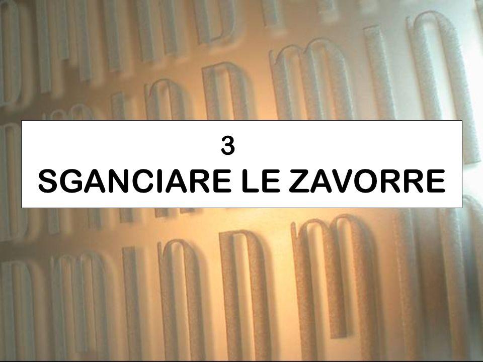 3 SGANCIARE LE ZAVORRE