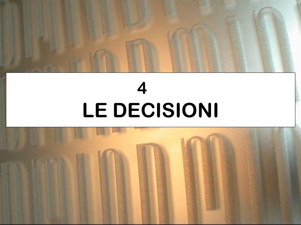 4 LE DECISIONI