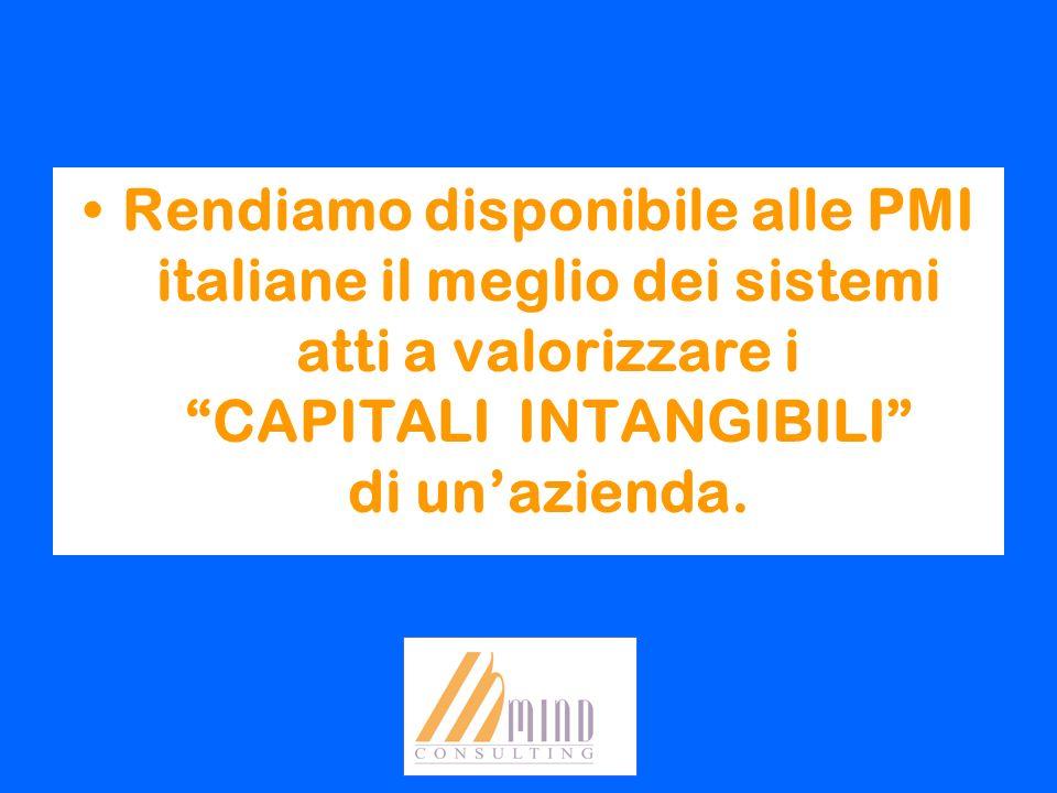 Rendiamo disponibile alle PMI italiane il meglio dei sistemi atti a valorizzare i CAPITALI INTANGIBILI di unazienda.