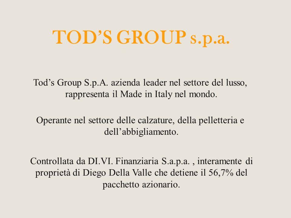 Nel 2012 Diego Della Valle premia i suoi dipendenti con un contributo straordinario di 1400 euro, lassicurazione dei costi sanitari per cure specialistiche, interventi chirurgici e la copertura dei costi per lacquisto dei libri scolastici per i figli dei dipendenti.