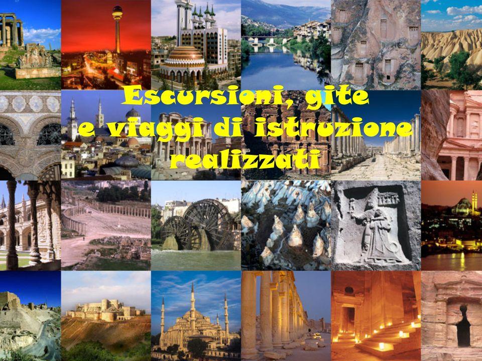 Escursioni, gite e viaggi di istruzione realizzati