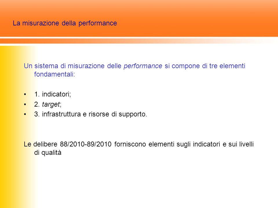 La misurazione della performance Un sistema di misurazione delle performance si compone di tre elementi fondamentali: 1.