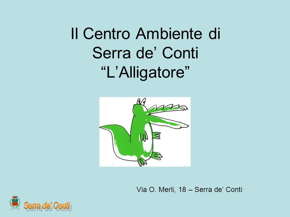 Il Centro Ambiente di Serra de Conti LAlligatore Via O. Merli, 18 – Serra de Conti