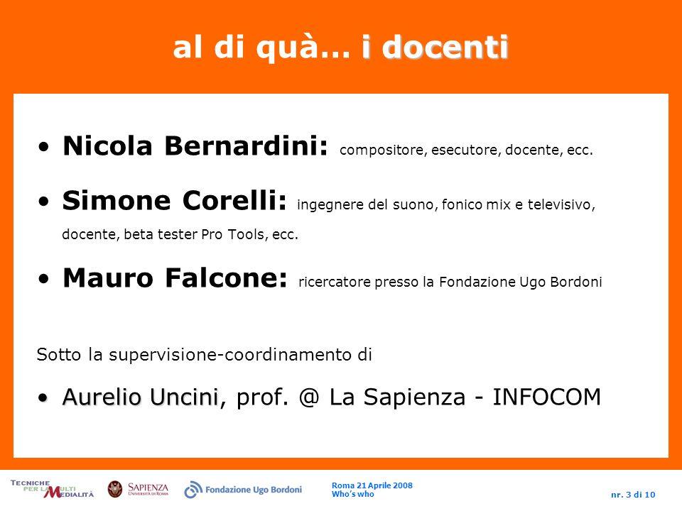 Roma 21 Aprile 2008 Whos who nr.