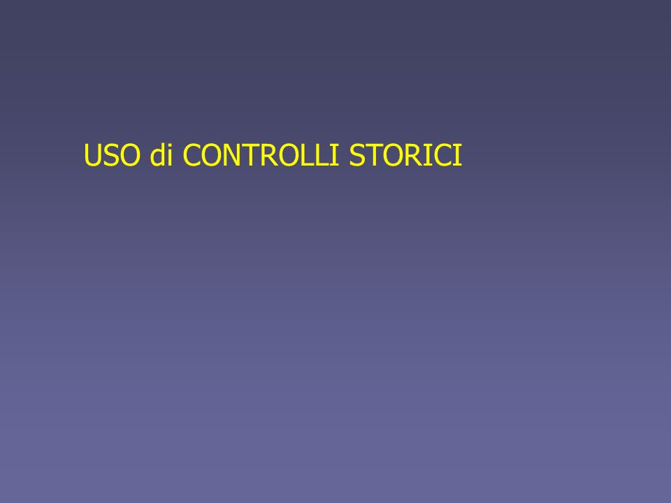 USO di CONTROLLI STORICI