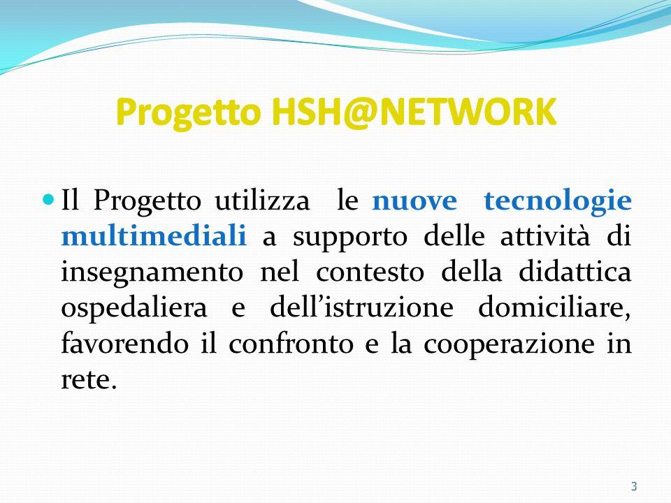 3 Progetto HSH@NETWORK Il Progetto utilizza le nuove tecnologie multimediali a supporto delle attività di insegnamento nel contesto della didattica os