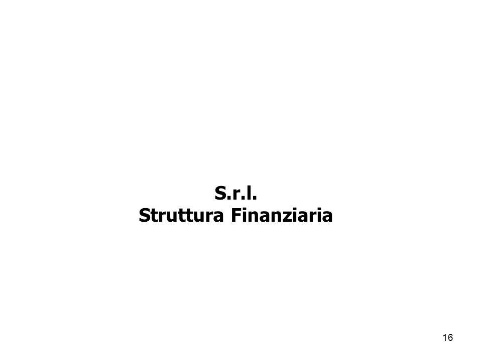 16 S.r.l. Struttura Finanziaria