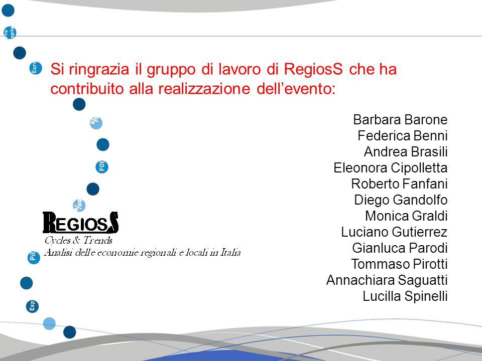 Si ringrazia il gruppo di lavoro di RegiosS che ha contribuito alla realizzazione dellevento: Barbara Barone Federica Benni Eleonora Cipolletta Robert