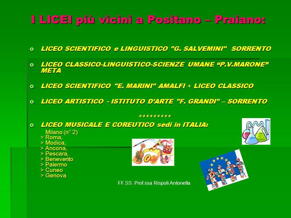 I LICEI più vicini a Positano – Praiano: oLICEO SCIENTIFICO e LINGUISTICO
