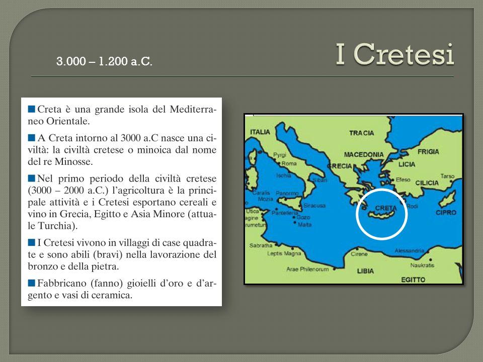 3.000 – 1.200 a.C.