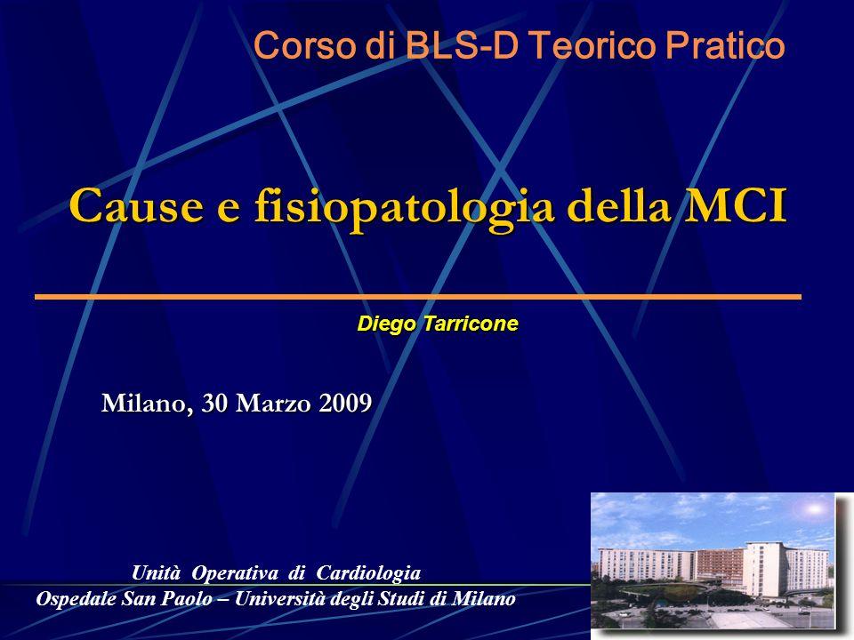Unità Operativa di Cardiologia Ospedale San Paolo – Università degli Studi di Milano Diego Tarricone Cause e fisiopatologia della MCI Milano, 30 Marzo