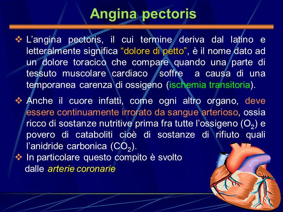 Angina pectoris dolore di petto Langina pectoris, il cui termine deriva dal latino e letteralmente significa dolore di petto, è il nome dato ad un dol