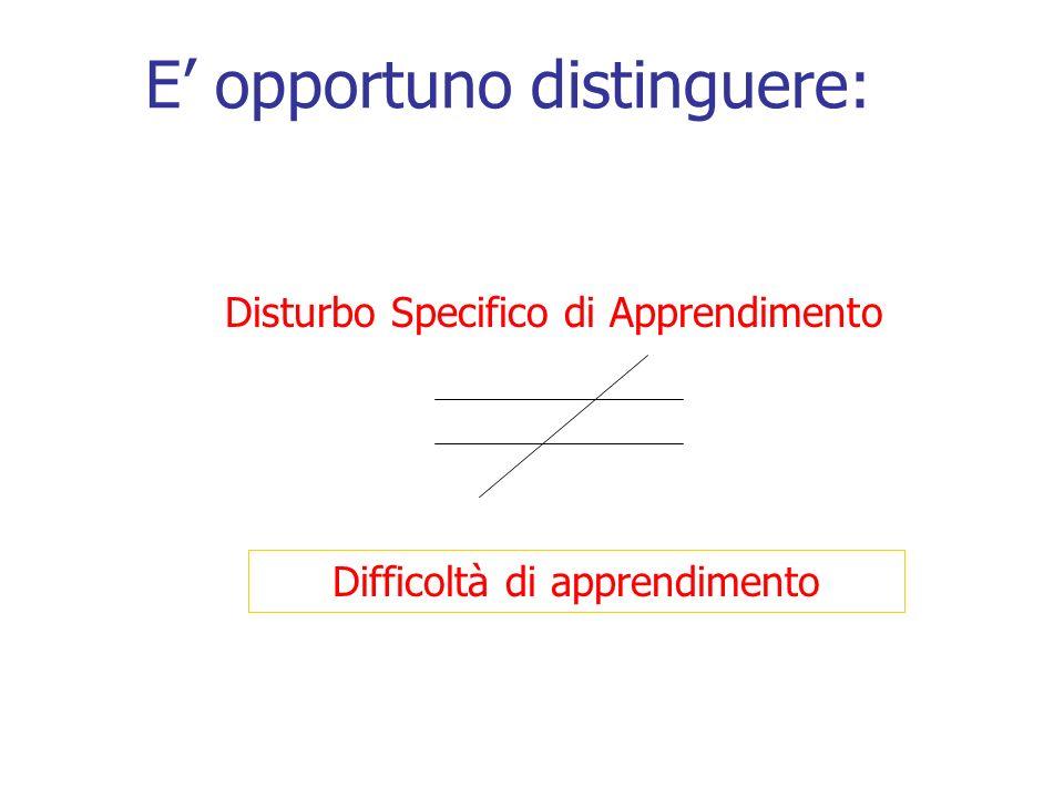 Difficoltà di apprendimento Con il termine Difficoltà di apprendimento si fa riferimento a qualsiasi tipo di difficoltà incontrata da uno studente durante la sua carriera scolastica e che è causa di scarso rendimento.