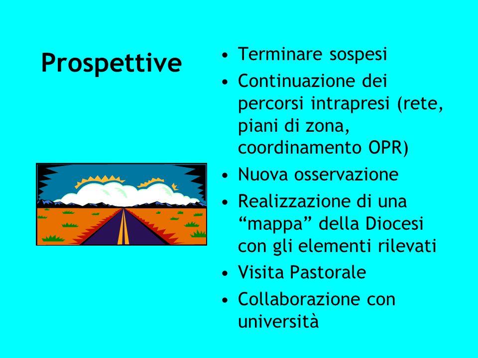 Prospettive Terminare sospesi Continuazione dei percorsi intrapresi (rete, piani di zona, coordinamento OPR) Nuova osservazione Realizzazione di una m