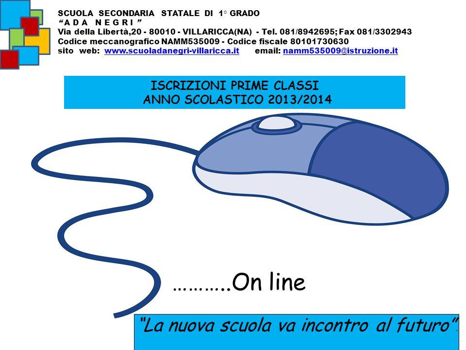 ISCRIZIONI PRIME CLASSI ANNO SCOLASTICO 2013/2014 SCUOLA SECONDARIA STATALE DI 1° GRADO A D A N E G R I Via della Libertà,20 - 80010 - VILLARICCA(NA)