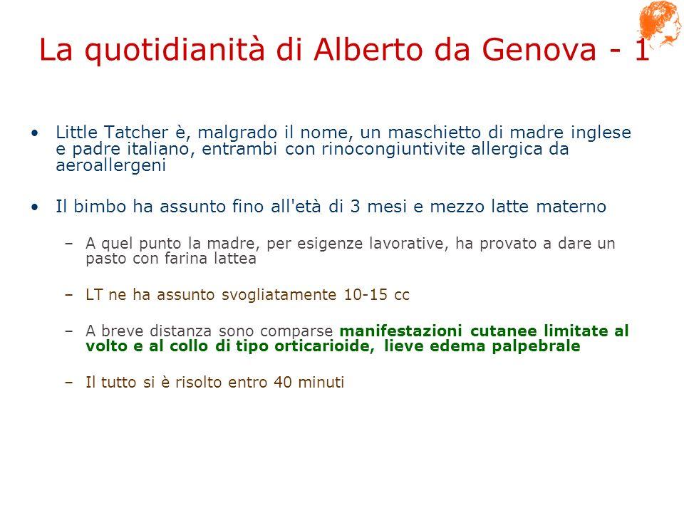 La quotidianità di Alberto da Genova - 1 Little Tatcher è, malgrado il nome, un maschietto di madre inglese e padre italiano, entrambi con rinocongiun