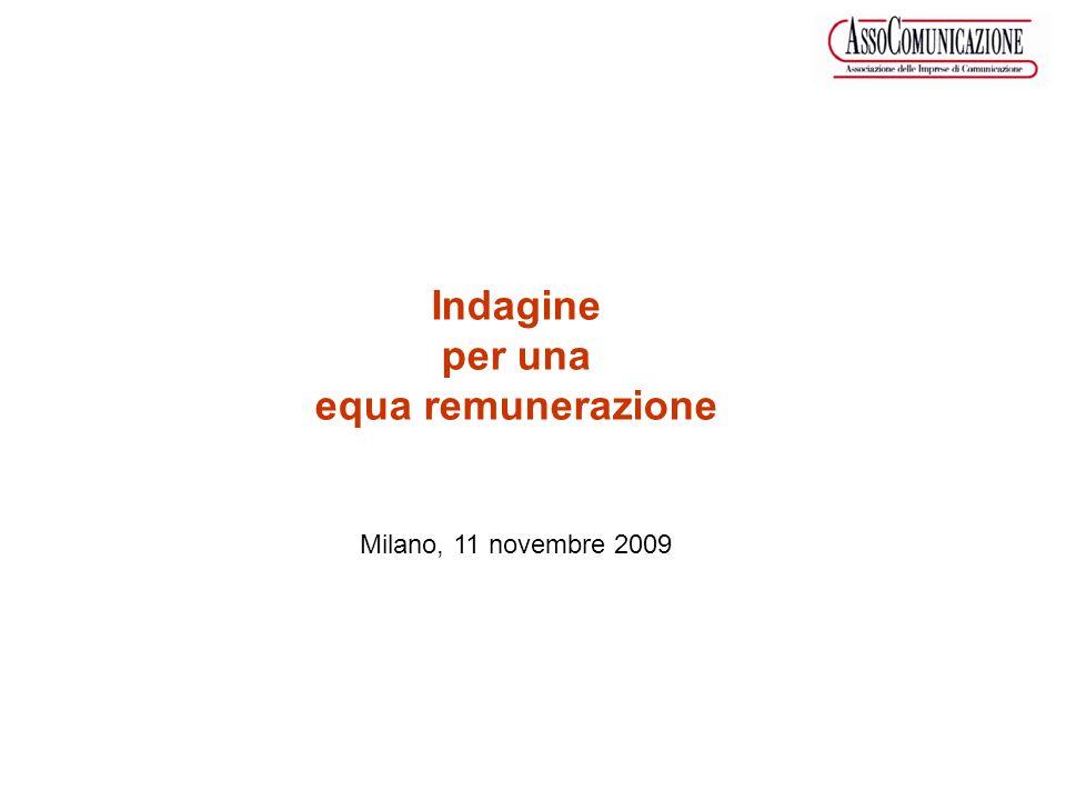 Indagine per una equa remunerazione Milano, 11 novembre 2009