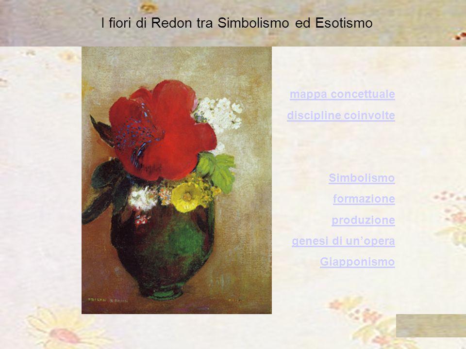 I fiori di Redon tra Simbolismo ed Esotismo mappa concettuale discipline coinvolte Simbolismo formazione produzione genesi di unopera Giapponismo