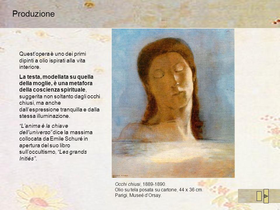Produzione Questopera è uno dei primi dipinti a olio ispirati alla vita interiore. La testa, modellata su quella della moglie, è una metafora della co