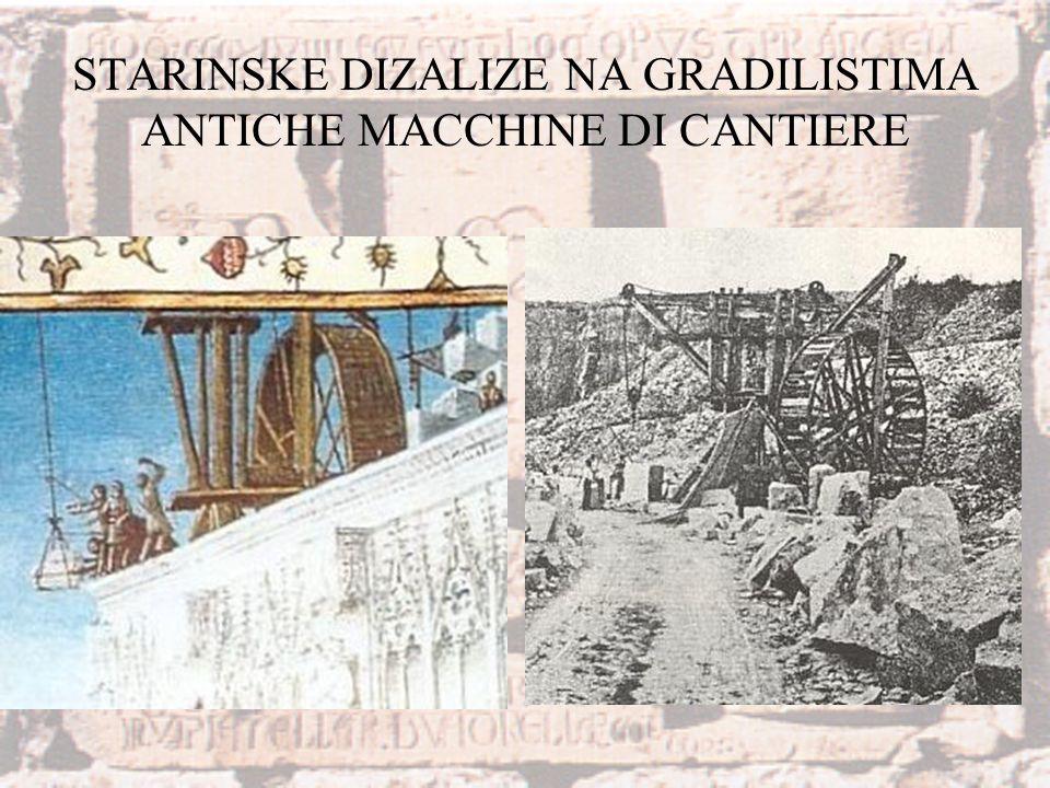 STARINSKE DIZALIZE NA GRADILISTIMA ANTICHE MACCHINE DI CANTIERE