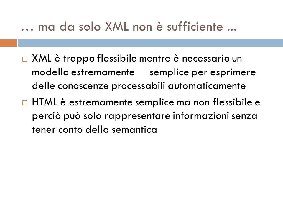 … ma da solo XML non è sufficiente...