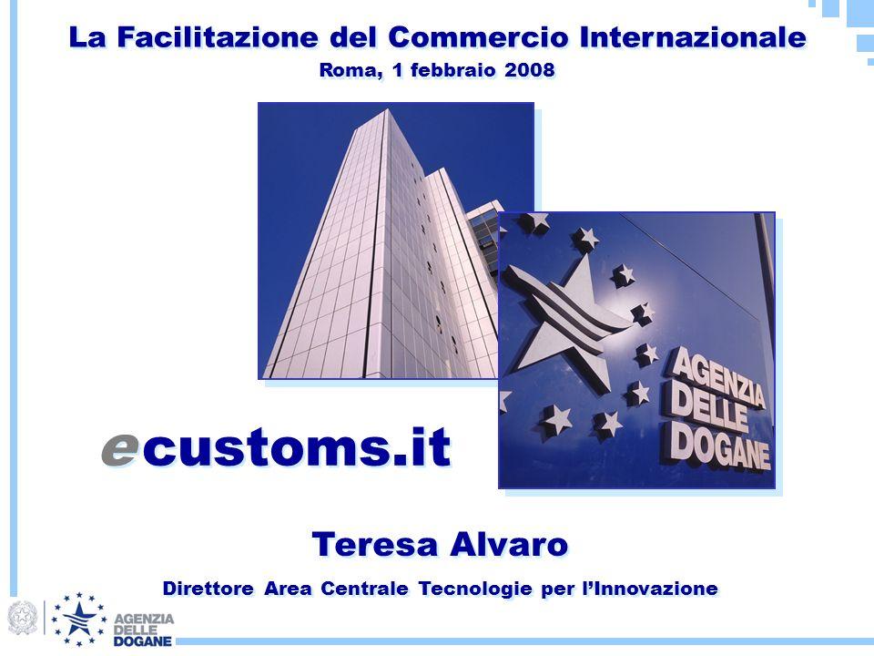 Teresa Alvaro Direttore Area Centrale Tecnologie per lInnovazione Teresa Alvaro Direttore Area Centrale Tecnologie per lInnovazione e customs.it La Fa