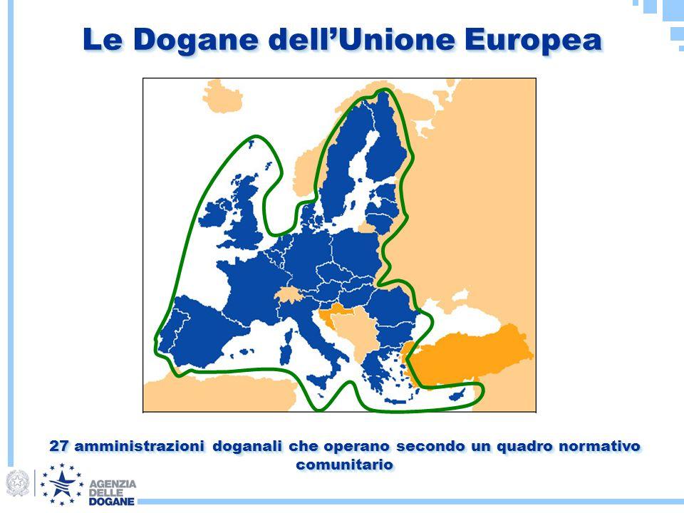 Le Dogane dellUnione Europea 27 amministrazioni doganali che operano secondo un quadro normativo comunitario