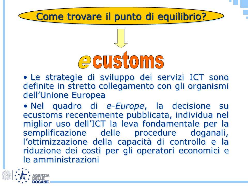 Come trovare il punto di equilibrio? Le strategie di sviluppo dei servizi ICT sono definite in stretto collegamento con gli organismi dellUnione Europ