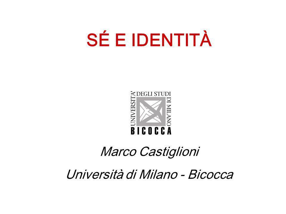 SÉ E IDENTITÀ Marco Castiglioni Università di Milano - Bicocca