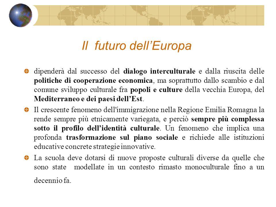 Il futuro dellEuropa dipenderà dal successo del dialogo interculturale e dalla riuscita delle politiche di cooperazione economica, ma soprattutto dall