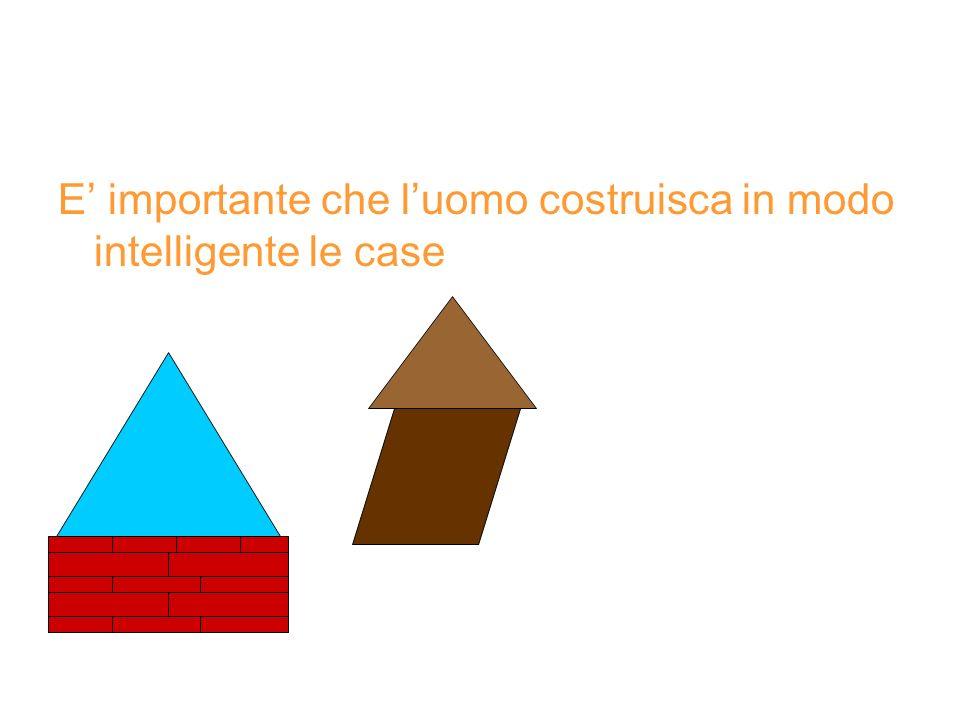 E necessario costruire le case lontano da vulcani o in zone pericolose.