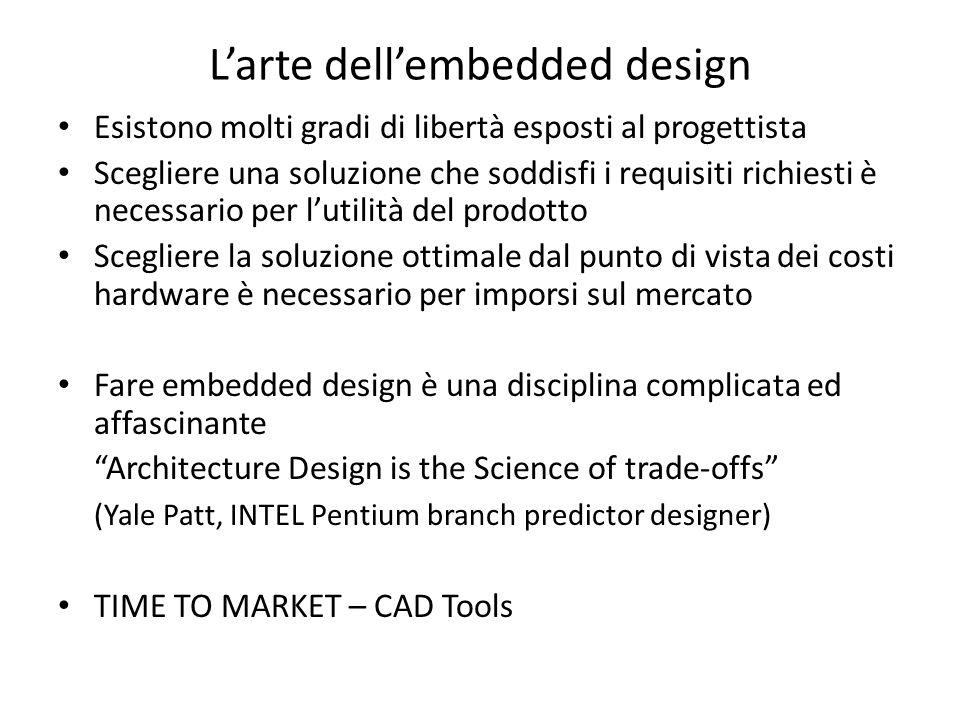 Larte dellembedded design Esistono molti gradi di libertà esposti al progettista Scegliere una soluzione che soddisfi i requisiti richiesti è necessar
