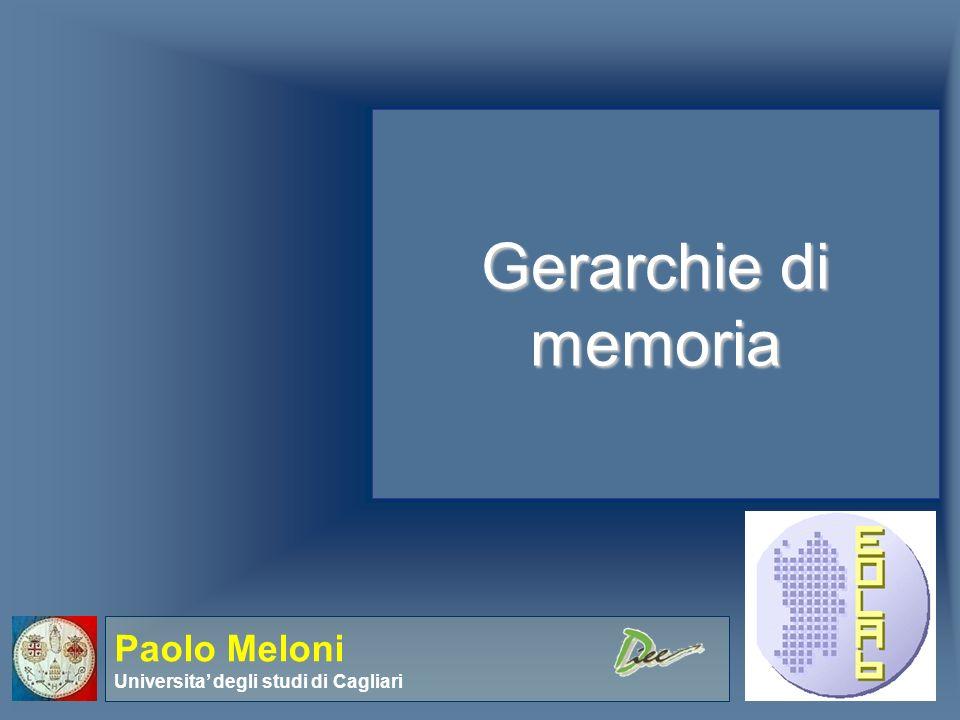 Paolo Meloni Elettronica – Introduzione al corso Memorie Cache - Basics Consideriamo, per familiarizzare coi concetti un sistema base in cui il processore richieda una word per volta e in cui anche la dimensione del block sia pari a 1 word.
