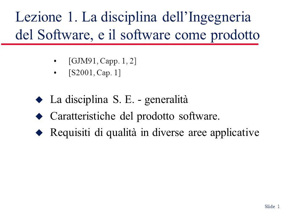 Slide 22 Manutenibilità - evolvibilità Deve essere possibile correggere e far evolvere il software per riflettere nuovi requisiti Ma i cambiamenti devono interessare tutta la pila di documenti del processo Es.