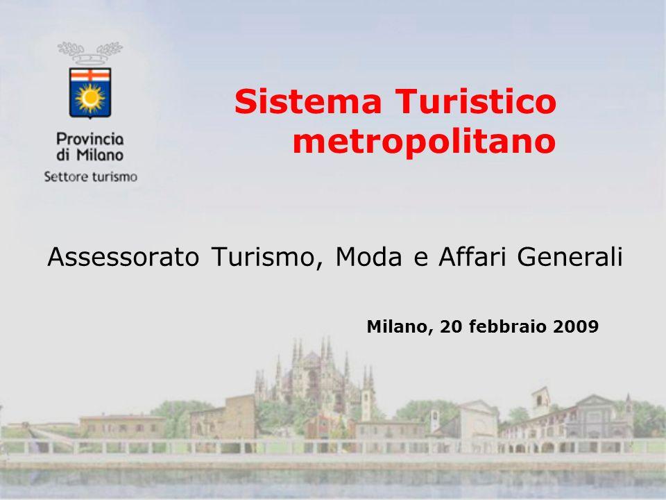 Sistema Turistico metropolitano Assessorato Turismo, Moda e Affari Generali Milano, 20 febbraio 2009
