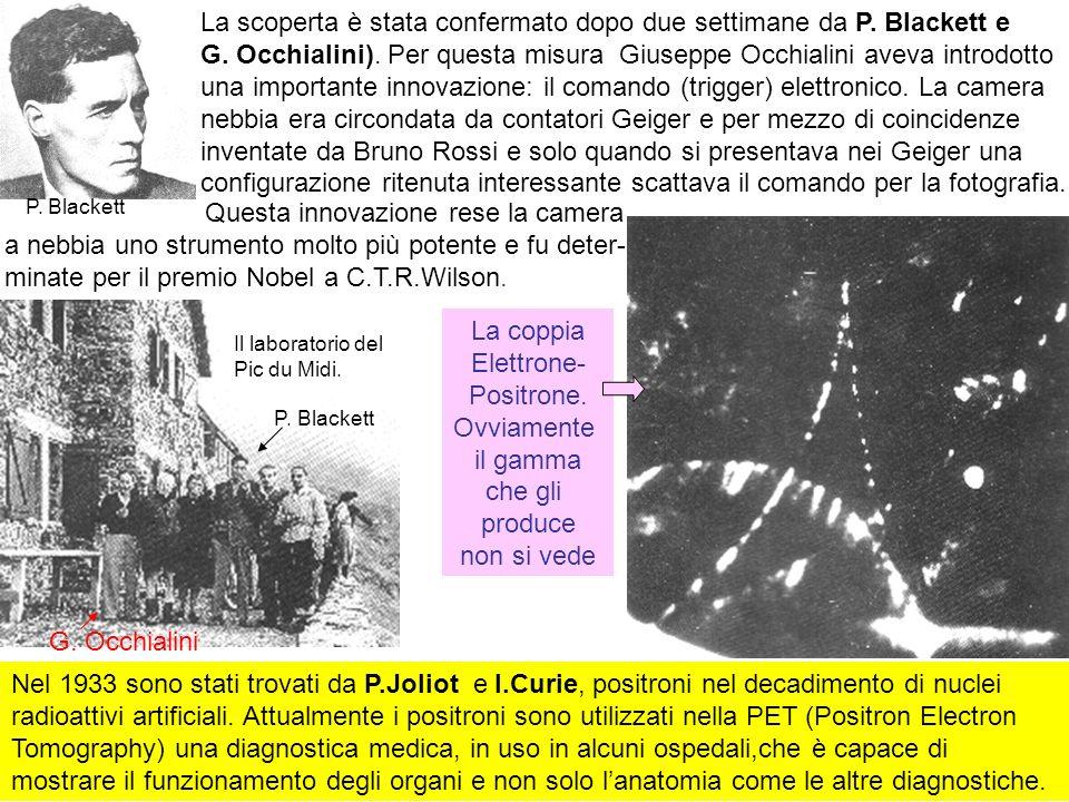 18 Nel 1933 sono stati trovati da P.Joliot e I.Curie, positroni nel decadimento di nuclei radioattivi artificiali. Attualmente i positroni sono utiliz