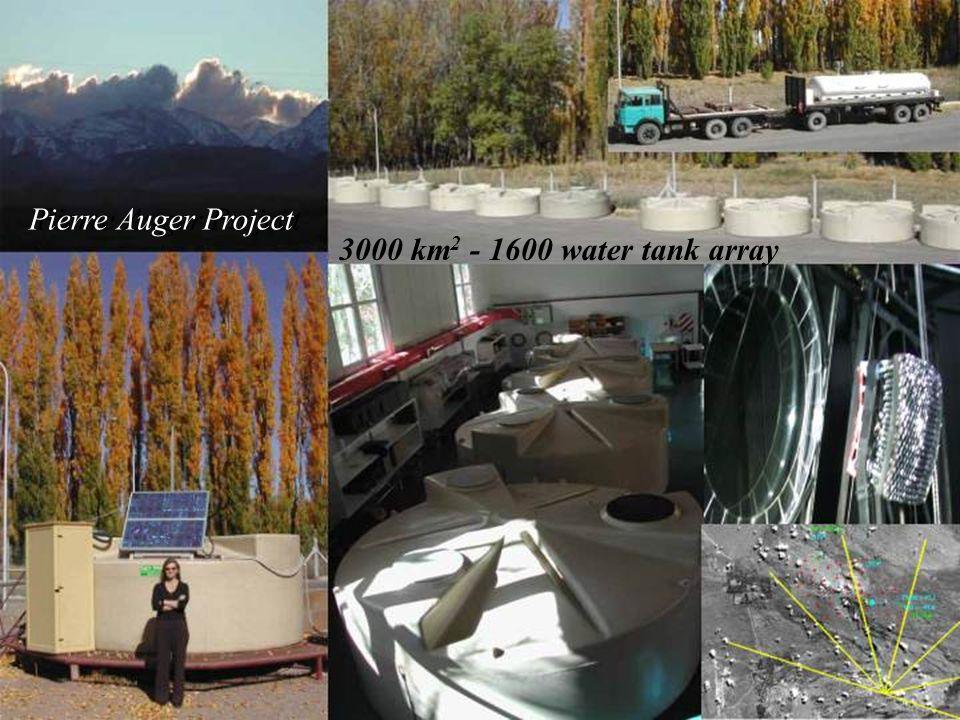 40 Pierre Auger Project 3000 km 2 - 1600 water tank array