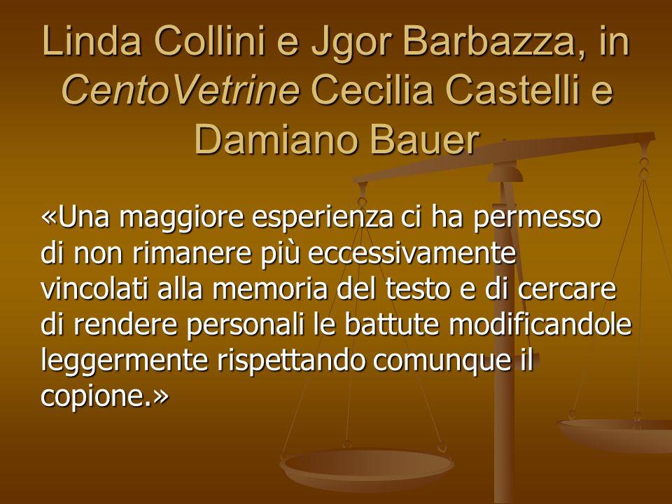 Linda Collini e Jgor Barbazza, in CentoVetrine Cecilia Castelli e Damiano Bauer «Una maggiore esperienza ci ha permesso di non rimanere più eccessivam