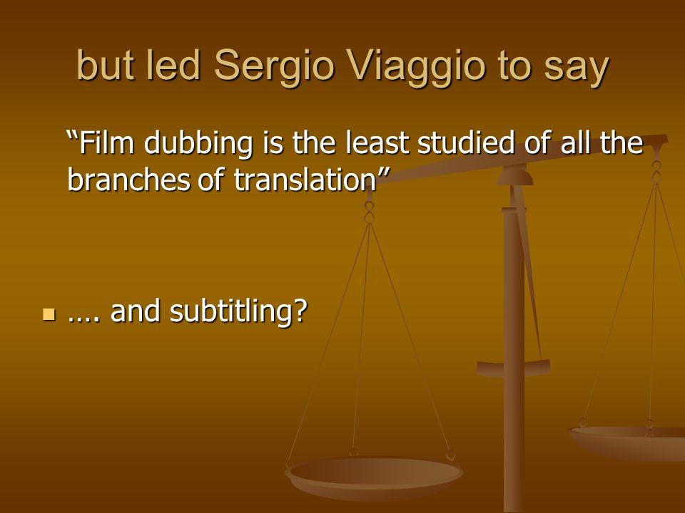 The subtitling vs.