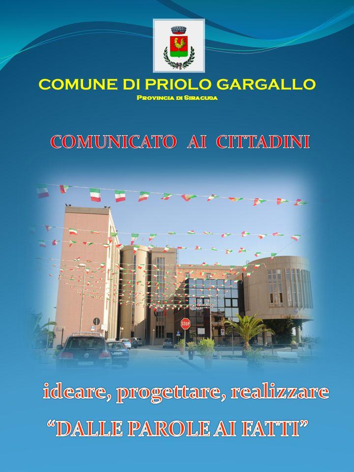 COMUNE DI PRIOLO GARGALLO Provincia di Siracusa