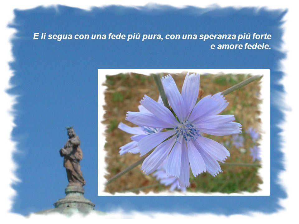 Allalba di un nuovo giorno il tuo sguardo amorevole mi ispira fiducia e rinnova nel cuore il dono di una pacificante speranza.